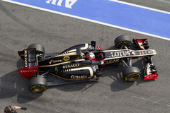 F1 Kimi Raikkonen Lotus E20 2012 Stock Photos