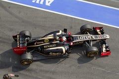 F1 Lotus E20 2012 van Kimi Raikkonen Stock Foto's
