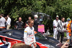 F1 McLaren driver Jensen Button. 30th June 2012 at Goodwood Festival of Speed, West Sussex, England. F1 champion McLaren driver Jensen Button celebrity Royalty Free Stock Image
