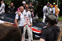F1 McLaren driver Jensen Button Royalty Free Stock Photo