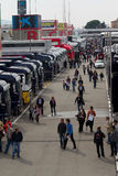 F1 Paddock Barcelona 2012 Royalty Free Stock Photo