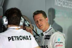 F1 programa piloto Michael Schumacher Imagenes de archivo