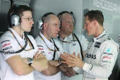 F1 programa piloto Michael Schumacher Fotos de archivo libres de regalías