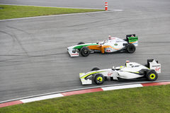F1 que compete 2009 - alcanç a ação imagens de stock
