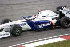 F1 que compite con 2009 - Roberto Kubica (BMW Sauber) Foto de archivo libre de regalías