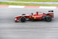 F1 Racing 2009 - Kimi Raikkonen (Ferrari) Stock Photography
