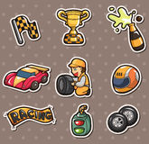 F1 racing stickers. Cartoon vector illustration Royalty Free Stock Photos