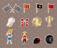 F1 racing stickers. Cartoon vector illustration Royalty Free Stock Image