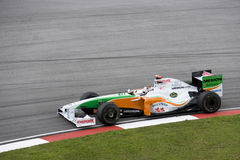 F1 Rennend 2009 - Adrian Sutil (Kracht India) Stock Afbeelding