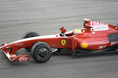 F1 Rennend 2009 - Felipe Massa (Ferrari) Stock Foto