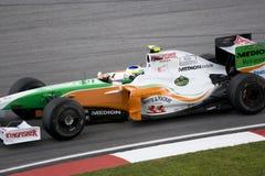 F1 Rennend 2009 - Giancarlo Fisichella Stock Foto's