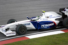 F1 Rennend 2009 - Inkeping Heidfeld (BMW Sauber) Royalty-vrije Stock Fotografie