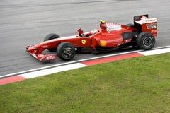 F1 Rennend 2009 - Kimi Raikkonen (Ferrari) Stock Foto's