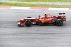 F1 Rennend 2009 - Kimi Raikkonen (Ferrari) Stock Fotografie