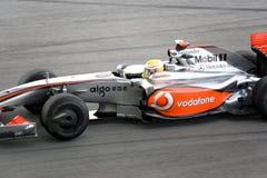 F1 Rennend 2009 - Lewis Hamilton (McLaren-Mercedes) Royalty-vrije Stock Foto