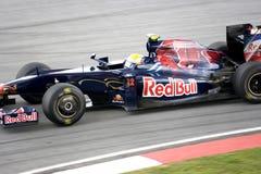 F1 Rennend 2009 - Sebastien Buemi (streptokok-Ferrari) Royalty-vrije Stock Foto