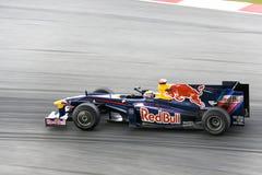 F1 Rennend 2009 - Teken Webber (rBR-Renault) Stock Fotografie