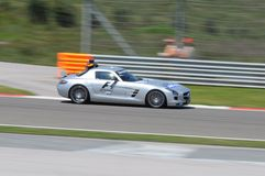F1 safety car. Checking the circuit Stock Photography