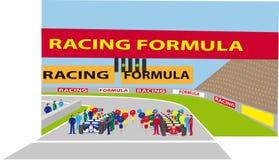 F1 starting grid stock image