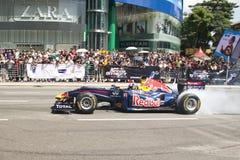 F1 toont de Straat van de Snelheid van Red Bull Maleisië 2011 Royalty-vrije Stock Foto