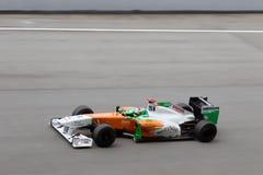 F1 Treiber Adrian Sutil auf einem Hochgeschwindigkeitsgeraden Stockfoto