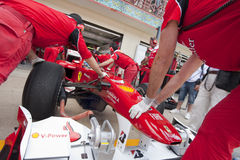 F1 Valencia Street Circuit 2010 stock photo