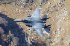 F15 E Kampfflugzeug Stockfotografie