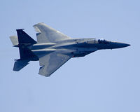 F15 Jet fighter in flight Royalty Free Stock Photos