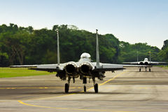 F15 on runway Royalty Free Stock Photo