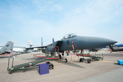 F15-SG at the Singapore Airshow 2014 Royalty Free Stock Photography