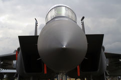 F15 Strike Eagle. Head on view of F15 Strike Eagle static on ground Stock Photos