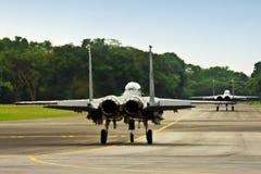 F15 sur la piste Photo libre de droits