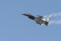 F16. Airshow demonstration in the Netherlands stock photo