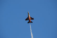 F16 Fighter. Image of an F16 Fighting Falcon soaring into the sky Stock Photos