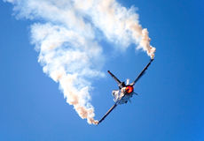 F16 fighter plane maneuver Royalty Free Stock Image