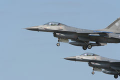 F16's flying in formation Stock Photography