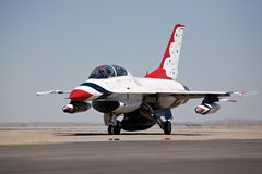 F16 taxi for takeoff stock images