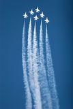 F16 thunderbird planes at airshow Stock Photography