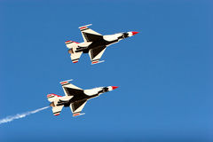 F16 thunderbird planes at airshow Stock Photos