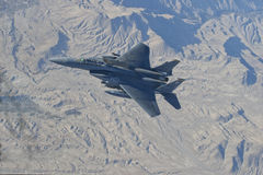 F18 fighter Plane. Over Afghanistan right before refueling October 18 2010 Stock Photos