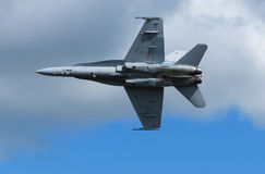 F22 Jet plane. F22 fighter jet flying over Foxton Royalty Free Stock Photos