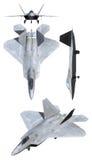 F22 Raptor Air Force Plane. 3D F22 Raptor Air Force Plane Stock Image