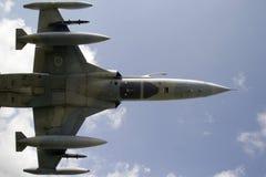 F5 jet aircraft in flight Stock Photos