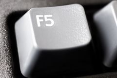 F5 refresh button extreme closeup royalty free stock photography