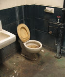 F51 Abandoned bathroom Stock Image