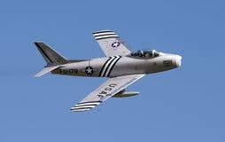 F86 SABRE, der am airshow anzeigt Lizenzfreie Stockbilder