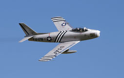 F86 Sabre displaying at airshow Royalty Free Stock Images