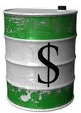Faß mit einem Symbol des Dollars lizenzfreie abbildung