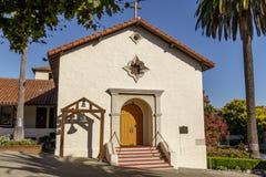 Façade esteriore della missione San Rafael Arcangel fotografia stock