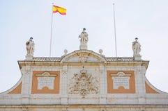 Façade Royal Palace Aranjuez w Madryt, Hiszpania Zdjęcia Stock